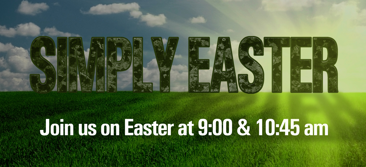 Simply Easter Banner and Mailer Cards - Bettendorf First Assembly of God Church - Adobe Illustrator CS4 - 2014